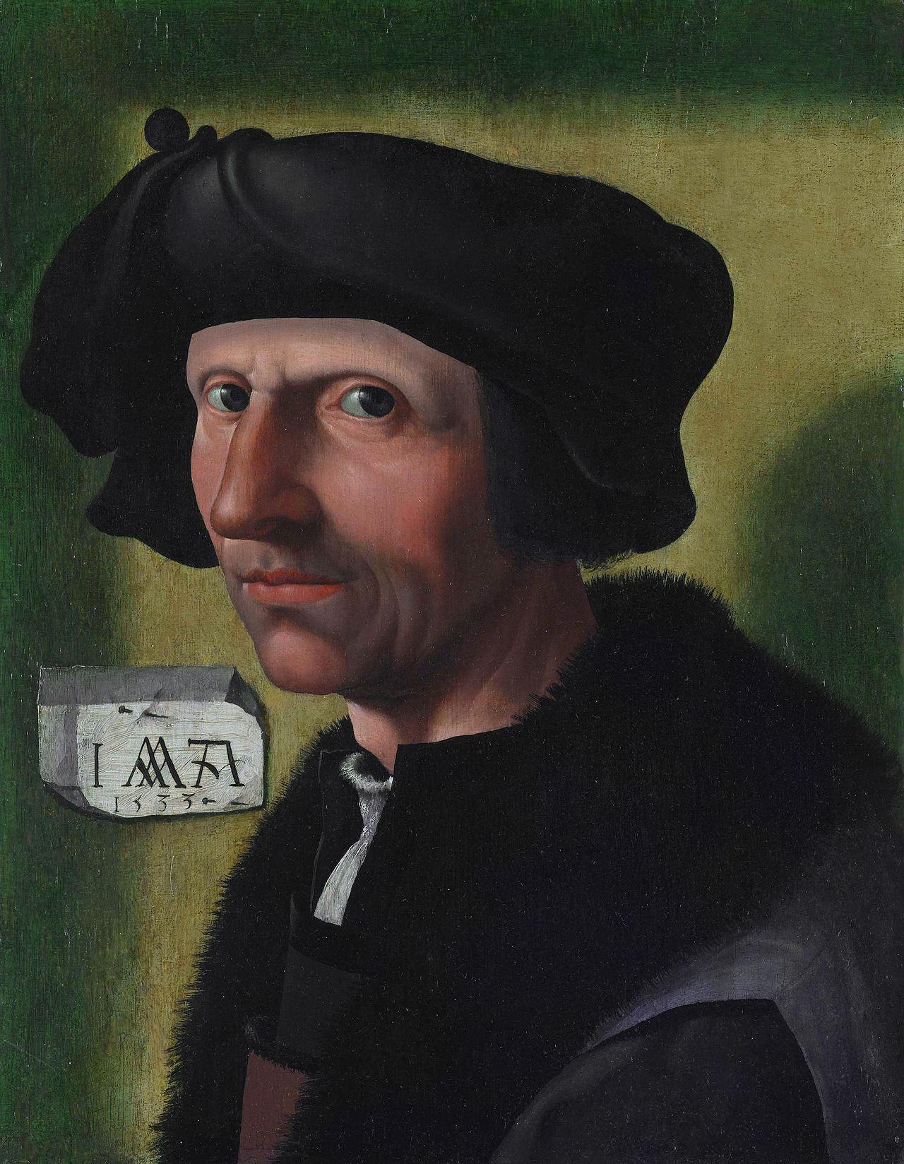 Zelfportret Jacob Cornelisz