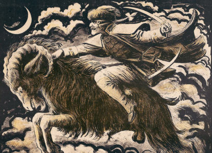 De Bokkenrijder of het skelet