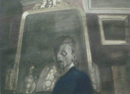Léon Spilliaert 1908 Zelfportret met spiegel