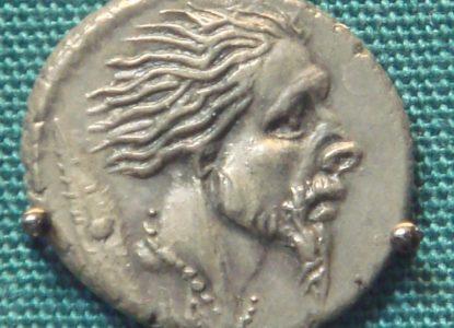 Roman Silver Denarius With Head Of Captive Gaul48 BCE