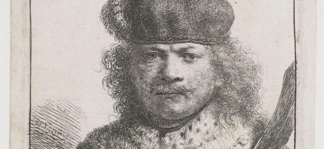 1 Rembrandt van Rijn Zelfportret 1634 ets Rijksmuseum Amsterdam