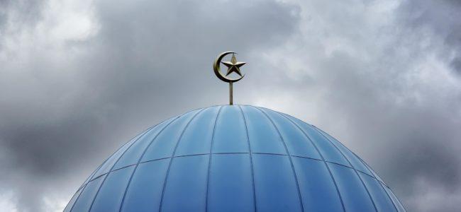 Silver mosque top dome ornament 908278
